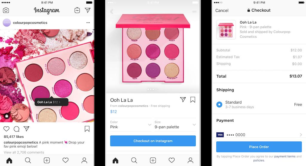 checkout di instagram