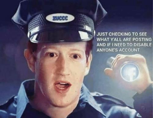 Meme Zuckerberg police