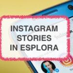 Instagram stories in esplora