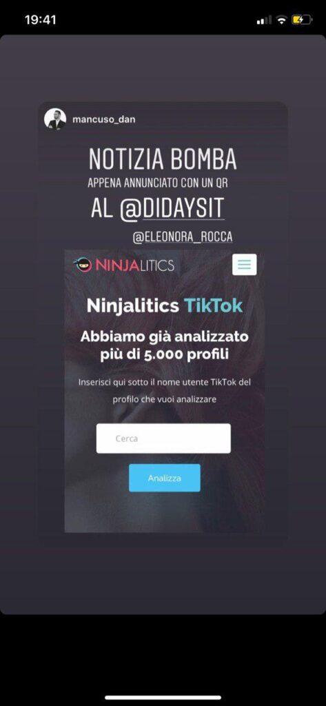 analisi tiktok ninjalitics