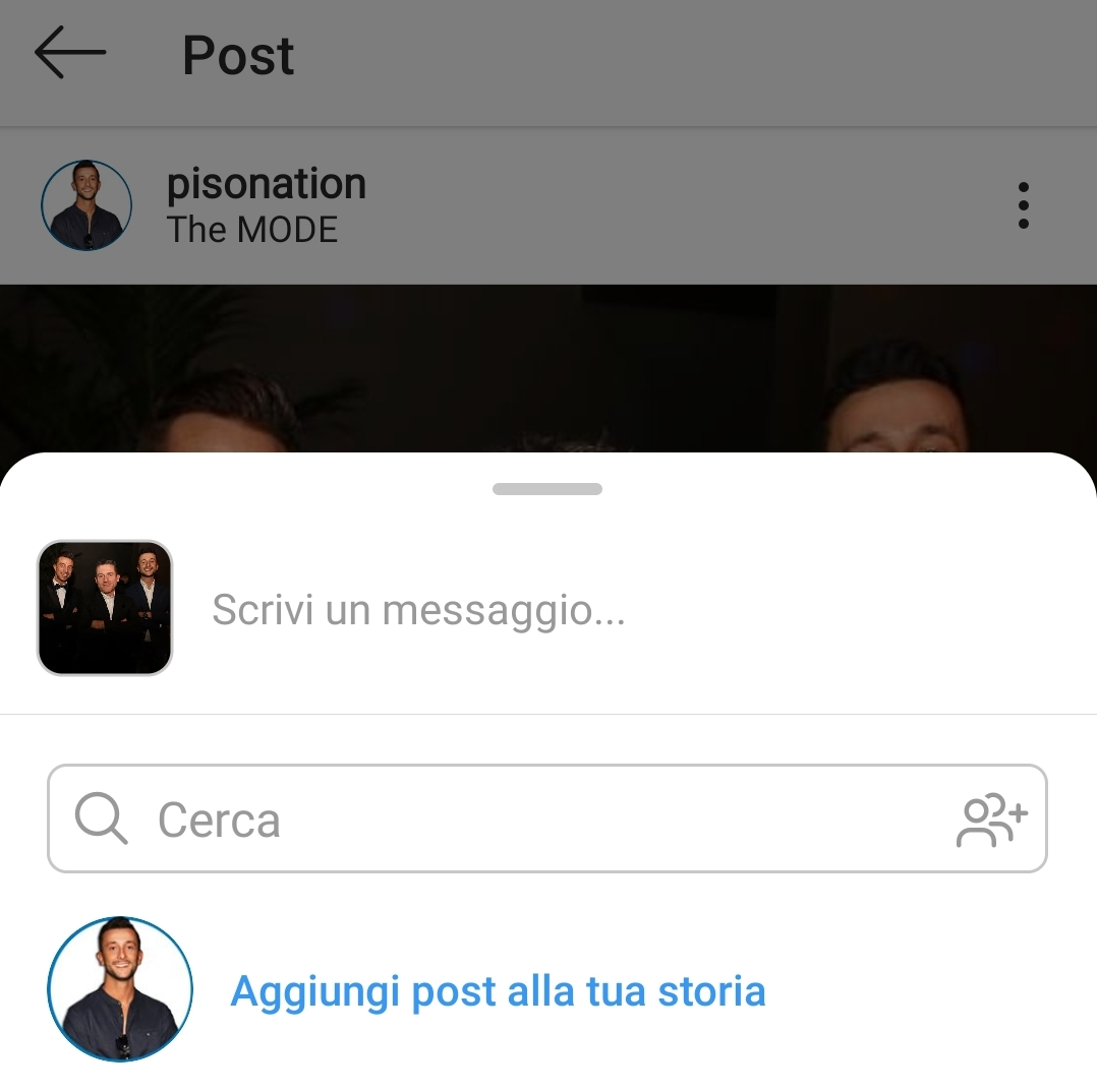 condividere post instagram