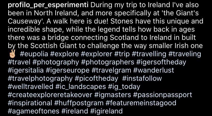 formattazione testo instagram