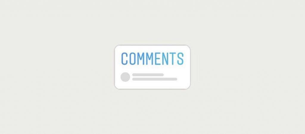 adesivo commenti nelle storie instagram