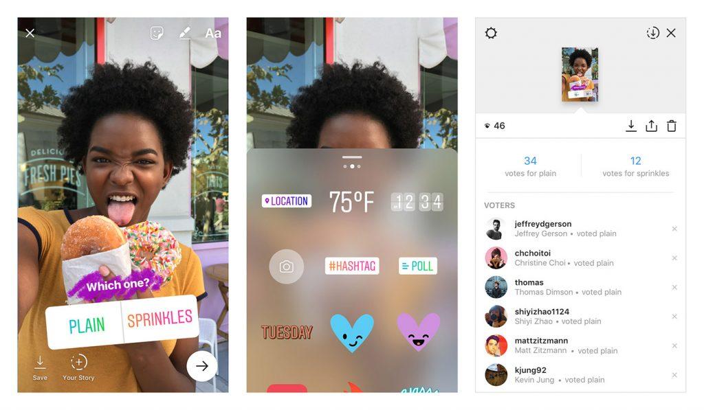 nuovi adesivi nelle storie instagram