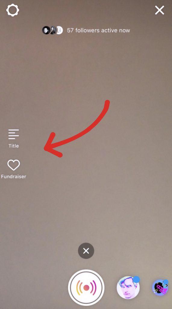 Donazioni durante le live instagram