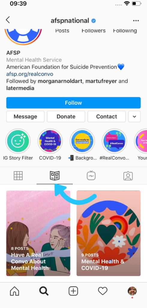 guide su Instagram: esempio
