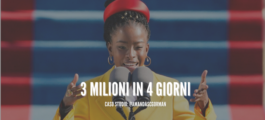 amanda gorman 3 milioni follower instagram