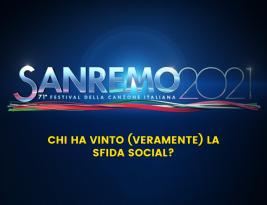 Sanremo 2021: chi ha vinto (veramente) la sfida social?