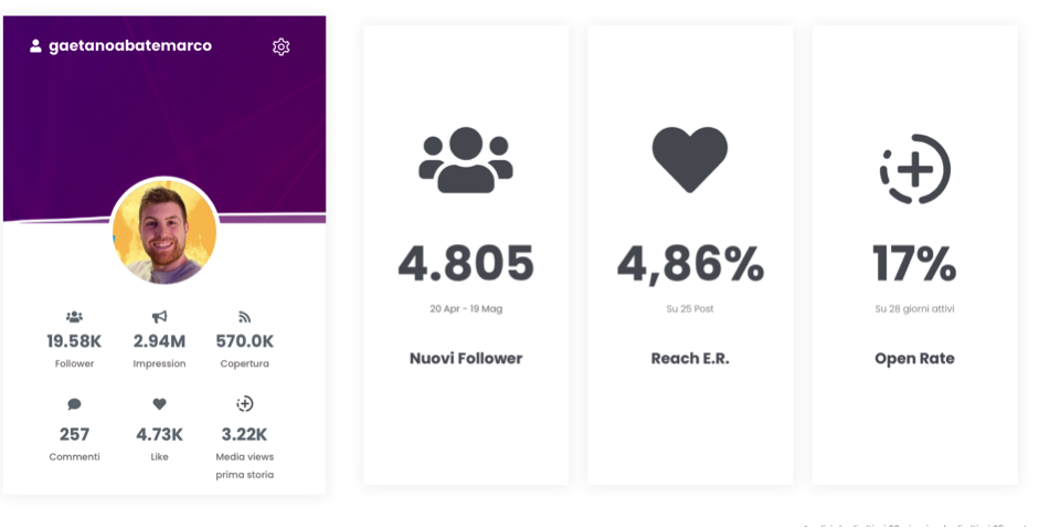 report dati business instagram not just analytics